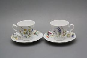 Kaffeetasse 0,2l und Untertasse Alaska Blumenwiese BB