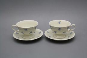 Teetasse 0,2l und Untertasse Alaska Vergissmeinnicht BB Streuer