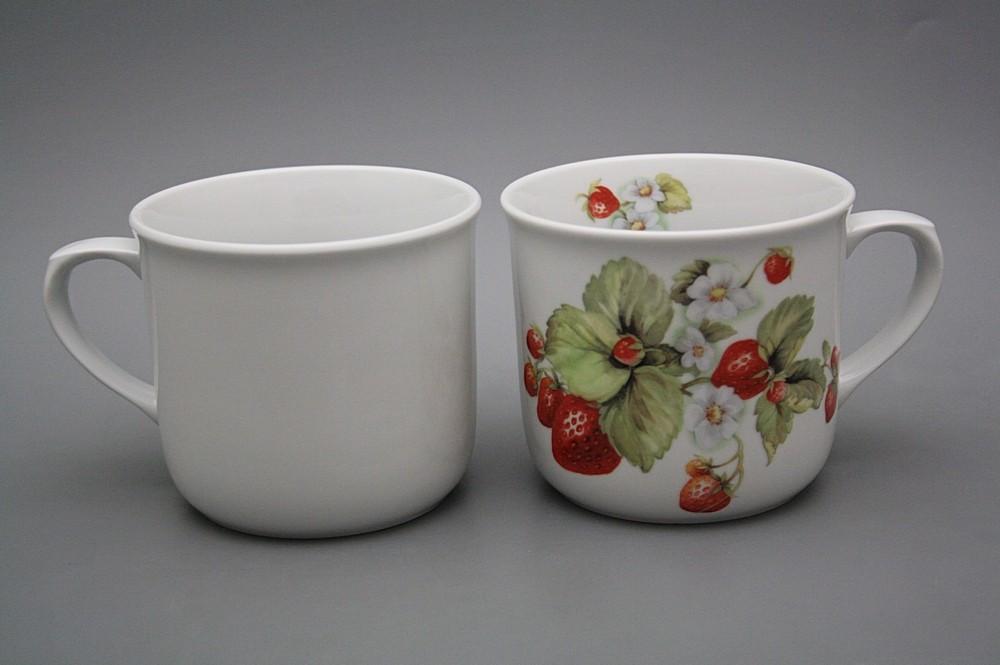 Kochtopf 0,65l Erdbeeren BB | Erdbeeren Dekor | Bohemia Porzellan 1987