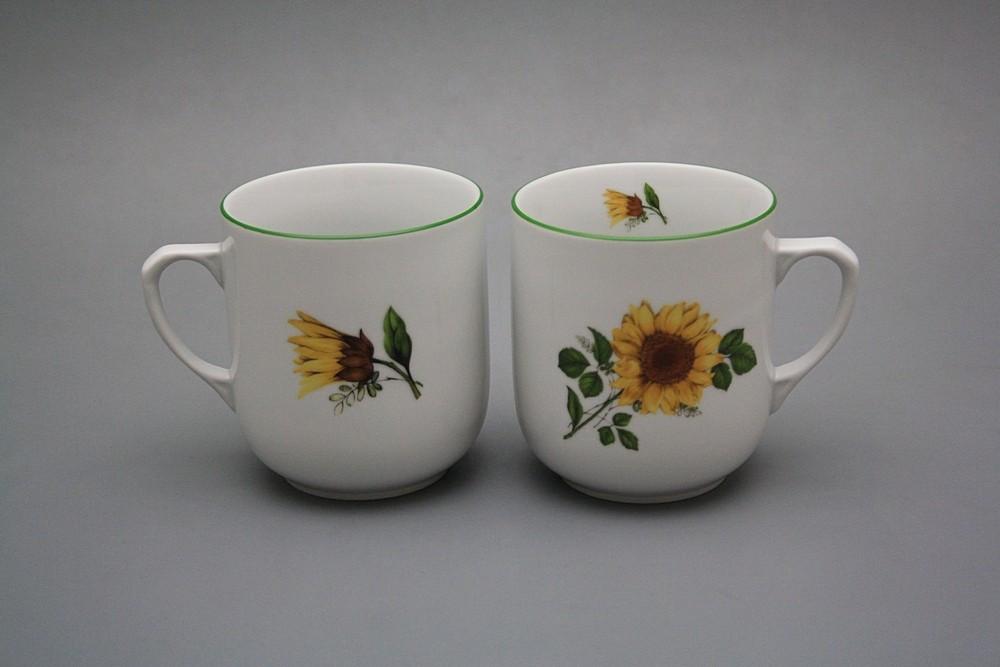 Tasse Trojka 0,3l Sonnenblumen ZL | Sonnenblumen Dekor | Bohemia ...