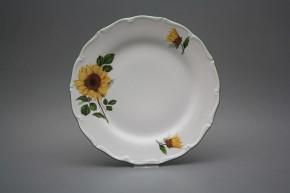 Flacher Teller 25cm Verona Sonnenblumen CZL
