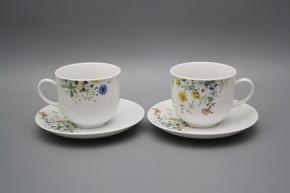 Tasse hoch 0,2l und Untertasse Opal Blumenwiese Motiv B HBB