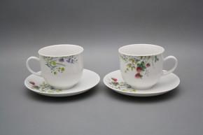 Tasse hoch 0,2l und Untertasse Opal Blumenwiese Motiv C HBB