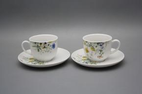 Tasse hoch 0,14l und Untertasse Opal Blumenwiese Motiv B HBB