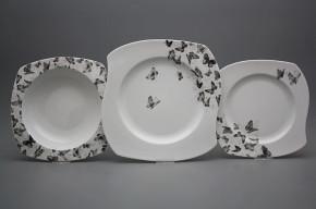 Tellerset Eureka Schwarze Schmetterlinge 18teiliges BB