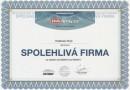 Certifikát - spolehlivá firma