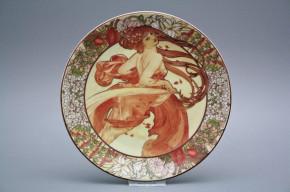 Hängeteller 19cm Alfons Mucha - Bohemia