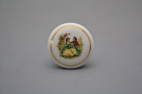 Porzellanknopfgriff 45mm Romanze GL