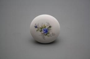 Porzellanknopfgriff 45mm Hellblaue Rosen AL