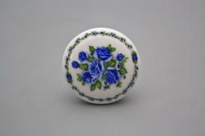 Porzellanknopfgriff 45mm Blue Rose