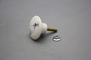 Porzellanknopfgriff 35mm Gänse