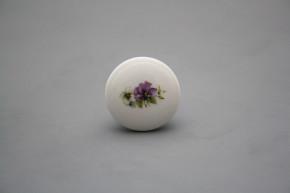 Porzellanknopfgriff 35mm Stiefmütterchen