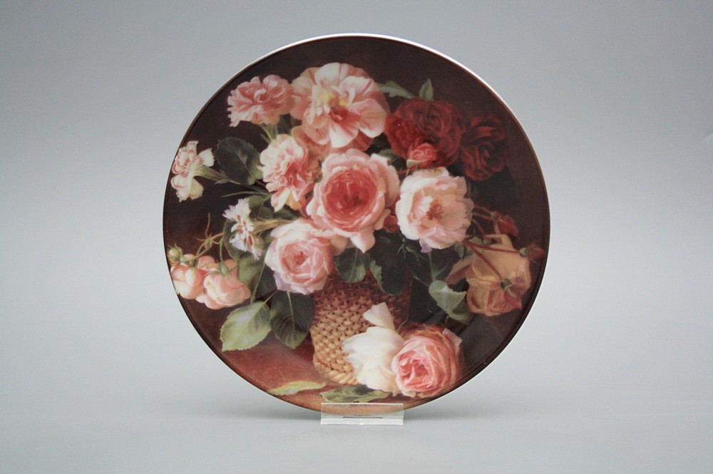h ngeteller 19cm korb mit rosen b dearest blumenmotive bohemia porzellan 1987. Black Bedroom Furniture Sets. Home Design Ideas
