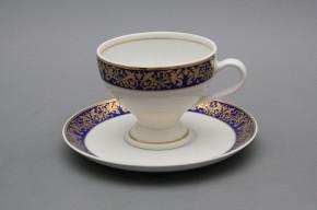 Teetasse 0,15l und Untertasse Christine Blue Gold GL