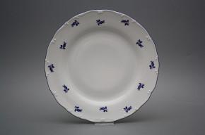 Flacher Teller 25cm Ofelie Blaue Rosen AML