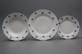 Tellerset Ofelie Blaue Rosen 18teiliges AML