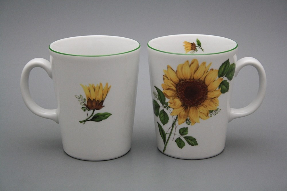 Tasse 0,3l Tetra Sonnenblumen BB | Sonnenblumen Dekor | Bohemia ...