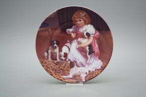 Hängeteller 19cm Country Childhood - Lovely Puppies