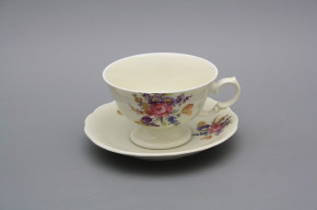 Teetasse 0,2l und Untertasse Alaska Iris Bouquet BB