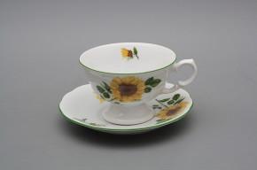 Teetasse 0,2l und Untertasse Alaska Sonenblumen ZL