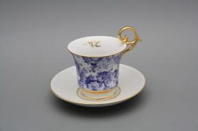 Tasse 0,15l mit Untertasse Wien Blue Rose Monogramm