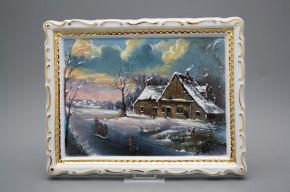 Porzellanbild Winter