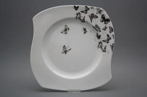 Flacher Teller 31,5cm Eureka Schwarze Schmetterlinge BB