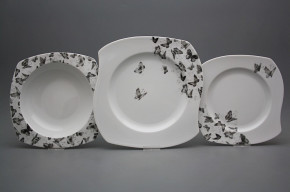 Tellerset Eureka Schwarze Schmetterlinge 24teiliges BB