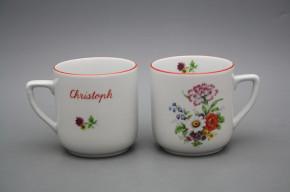 Tasse Petka 0,4l mit Widmung Meissen Bouquet CL