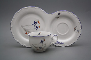 Tee Frühstücksset Ofelie mit Name Gänse ML