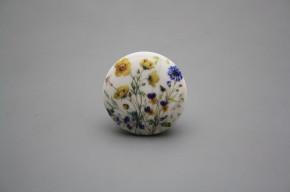 Porzellanknopfgriff 35mm Blumenwiese B