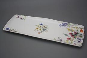 Viereckige Platte 45cm Rokoko Blumenwiese BB