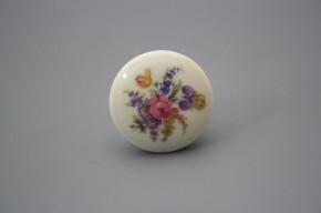 Porzellanknopfgriff 35mm ECRU Iris Bouquet