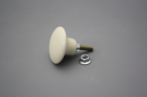 Porzellanknopfgriff ECRU 35mm