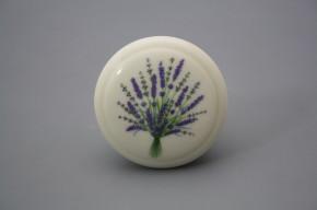 Porzellanknopfgriff 45mm ECRU Lavendel