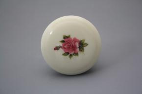 Porzellanknopfgriff 45mm ECRU Rose Elizabeth rosa