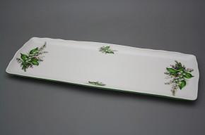 Viereckige Platte 45cm Rokoko Maiglöckchen EZL