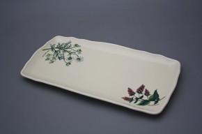 Viereckige Platte 33cm Rokoko Herbs BB