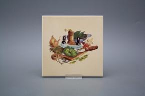 Fliese 15x15cm Gemüsegarten BEIGE