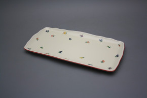 Viereckige Platte 33cm Rokoko ECRU Streuer ACL