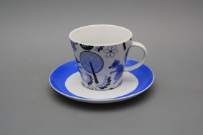 Tasse hoch 0,2l und Untertasse Tom PF Blue MB