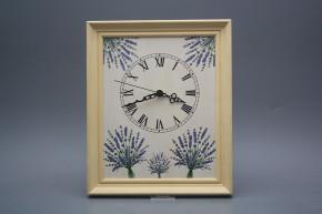 Wanduhr 25x30cm Lavendel cPB