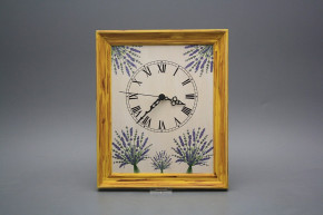 Wanduhr 25x30cm Lavendel cHM