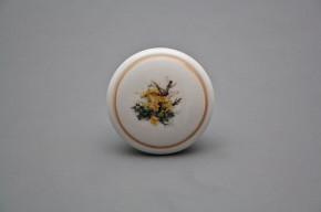 Porzellanknopfgriff 45mm Pilzen HL