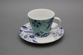 Tasse hoch 0,2l und Untertasse Tom Blue Persia AQ