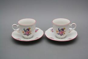Tasse 0,135l und Untertasse Ofelie Iris Bouquet RL