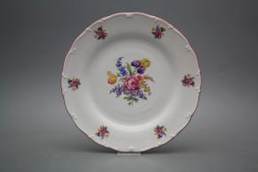 Flacher Teller 25cm Ofelie Iris Bouquet FRL