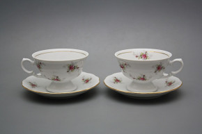 Teetasse 0,2l und Untertasse Alaska Rosarote Rosen GL
