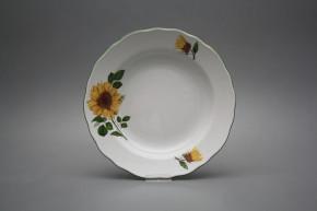 Tiefer Teller 24cm Rokoko Sonnenblumen CZL