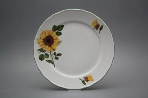 Flacher Teller 26cm Rokoko Sonnenblumen CZL